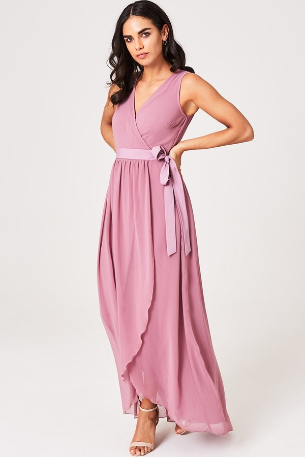Little Mistress Phoebe Canyon Rose Maxi Wrap Dress