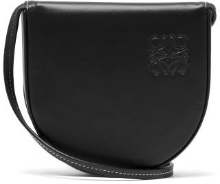 Loewe Heel Small Leather Pouch - Black