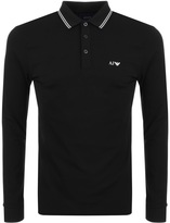 Giorgio Armani Jeans Tipped Polo T Shirt Black