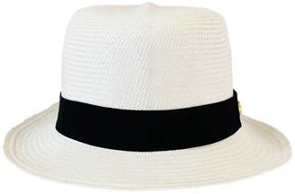 La Marqueza Hats Fine 'Colonial' Authentic Panama Hat Rollable White Premium Quality