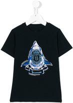 Billionaire Kids - shark print T-shirt - kids - Cotton/Spandex/Elastane - 2 yrs