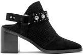 Senso Women's Hanna Suede Heeled Ankle Boots Ebony