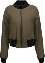 MM6 MAISON MARGIELA Ribbed-trimmed twill jacket