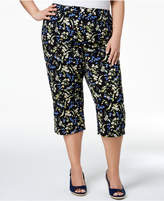 Karen Scott Plus Size Printed Capri Pants, Created for Macy's