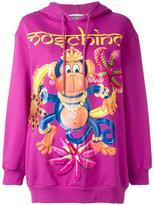 Moschino crowned monkey hoodie