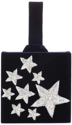 Stelle Sanayi 313 embroidered velvet clutch
