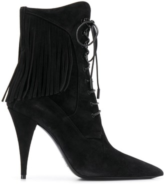 Saint Laurent Kiki lace-up boots