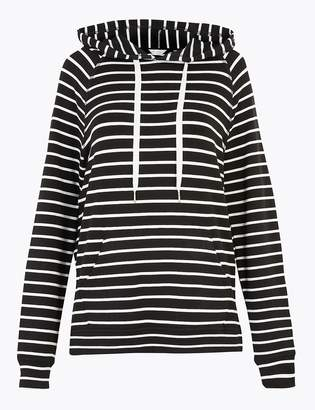 Marks and Spencer Flexifit Striped Hooded Lounge Top