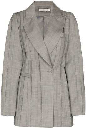 XU ZHI pleated single breasted blazer