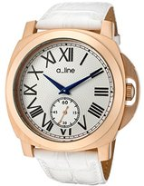 A Line a_line Women's 80007-RG-02-WH Pyar White Leather Watch