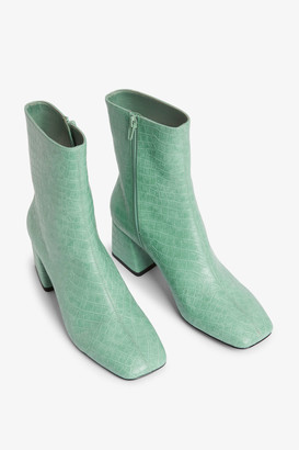 Monki Square-toe ankle boots