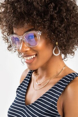francesca's Sonia Clear Blue Light Glasses - Clear
