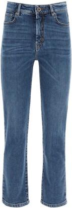 Max Mara ecru cropped jeans