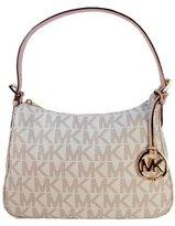 Michael Kors Item Small Top Zip Shoulder Bag in Signature Vanilla PVC