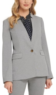 DKNY Petite Notch-Collar One-Button Blazer