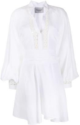 Forte Dei Marmi Couture Puff Sleeve Mini Dress