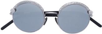 Kuboraum round mirrored sunglasses