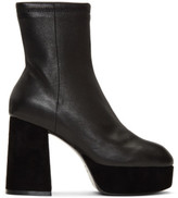 Opening Ceremony Black Leather Carmen Boots