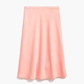 J.Crew Petite satin-back crepe A-line midi skirt
