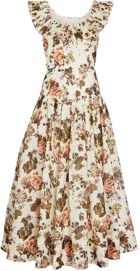 Ulla Johnson Coretta Floral Organza Midi Dress