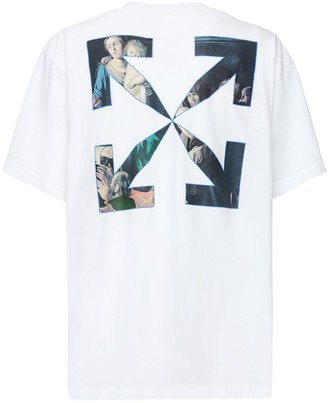 Off-White Over Caravaggio Print Jersey T-shirt