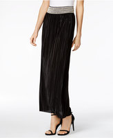 MSK Sequined Pleated Maxi Skirt