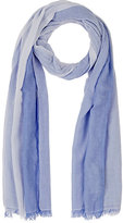 Barneys New York WOMEN'S COTTON-BLEND STRIPED SCARF