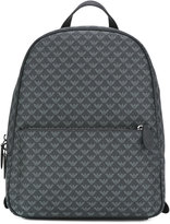 Emporio Armani - logo embossed backpack - men - Calf Leather - One Size