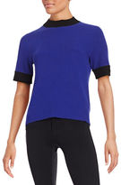 Anne Klein Colourblocked Ribbed Top