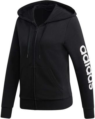 adidas Womens Essentials Linear Full Zip Hoodie