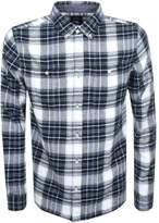 Edwin Long Sleeve Flannel Check Shirt Green