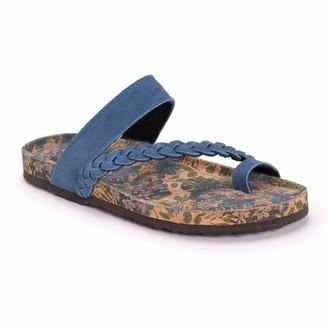 Muk Luks Women's Keia Sandals- Denim Blue (Numeric_8)