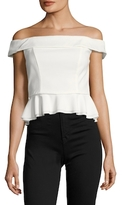 ABS by Allen Schwartz Off The Shoulder Peplum Top