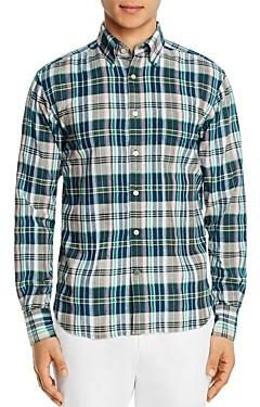 Original Madras Trading Co. Plaid Long-Sleeve Regular Fit Button-Down Shirt