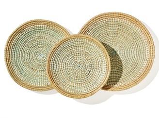 Woven Round Tray 3-Piece Set
