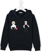 Dolce & Gabbana Designer's patch hoodie - kids - Cotton - 2 yrs