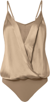 Michelle Mason Silk Cami Cross Front Bodysuit