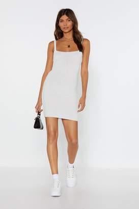 Nasty Gal Womens Square Neck Knitted Mini Dress - white - L