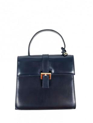 Delvaux Navy Leather Handbags