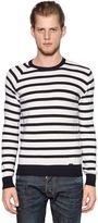 DSQUARED2 Striped Ribbed Wool Sweater