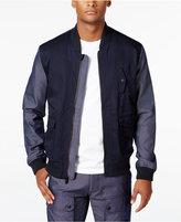 Sean John Men's Two-Tone Bomber Jacket