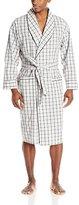 Nautica Men's Oatmeal Plaid Woven Robe