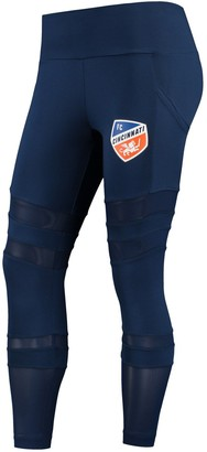 Women's Concepts Sport Navy FC Cincinnati Interval Sublimated Leggings