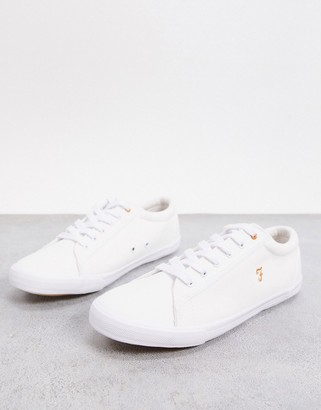 Farah lace up trainers in white