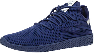 adidas Pharrell Williams x Dark Blue Cotton Knit PW Tennis Hu Sneakers Size 46