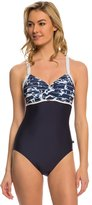 Nautica Swimwear Pacific Floral Soft Cup One Piece Swimsuit 8139568