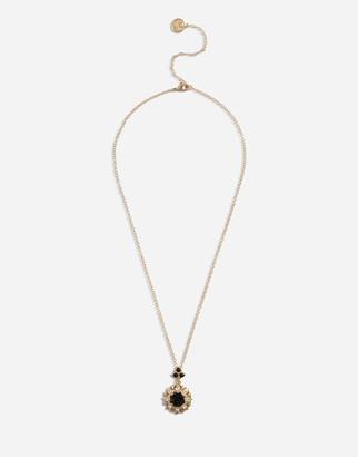 Dolce & Gabbana Necklace With Rhinestone Pendant