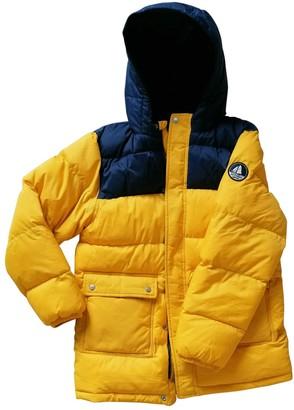 Petit Bateau Yellow Leather Jacket for Women
