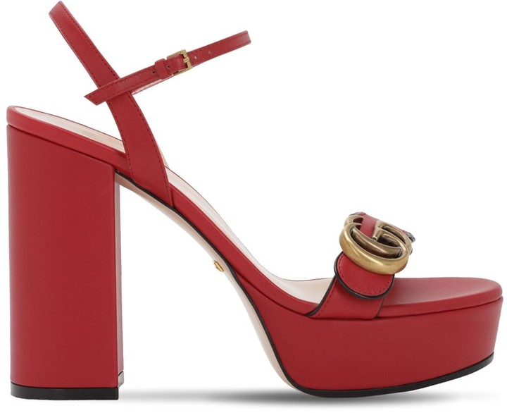 39c21333e Gucci Red Women's Sandals - ShopStyle
