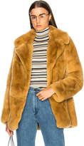 A.L.C. Rabbit Fur Stone Coat